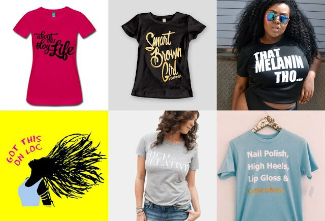 black woman owned t-shirt brands