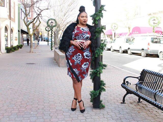 Gwynnie Bee, City Chic dress, shoedazzle black pumps