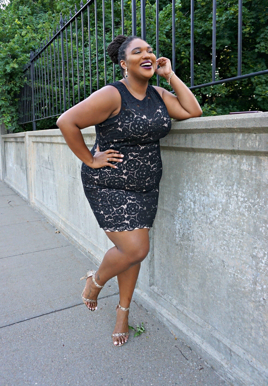Ellen Tracy plus size lace dress