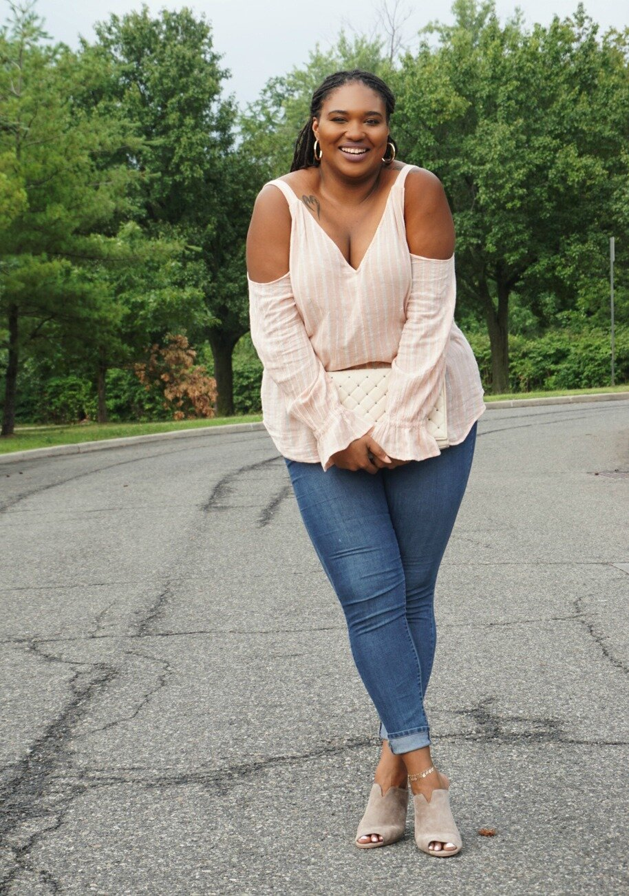 How to Style a Cold Shoulder Top